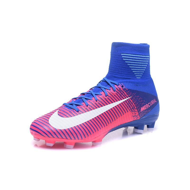 Barriga Independencia Lejos  Nike Mercurial Superfly 5 FG ACC Botas de Fútbol -Rosa Azul