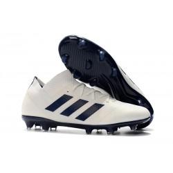 adidas Nemeziz Messi 18.1 FG Botas de fútbol - Blanco Negro