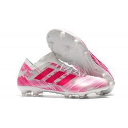 adidas Nemeziz Messi 18.1 FG Botas de fútbol - Rosa Blanco