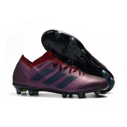 adidas Nemeziz Messi 18.1 FG Botas de fútbol - Violeta Negro