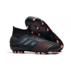 Tacón de Fútbol adidas Archetic Predator 19.1 FG - Negro Rojo