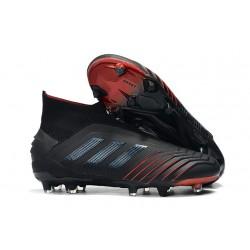 Zapatillas de Fútbol adidas Predator 19+ FG Archetic Negro Rojo