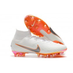 Nike Zapatos Mercurial Superfly 6 Elite AG-Pro Blanco Naranja