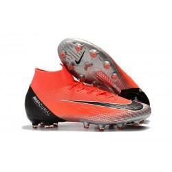 Nike Zapatos Mercurial Superfly 6 Elite AG-Pro Rojo Plata Negro