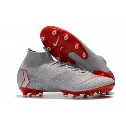 Nike Zapatos Mercurial Superfly 6 Elite AG-Pro Gris Rojo