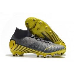 Nike Zapatos Mercurial Superfly 6 Elite AG-Pro Gris Oro