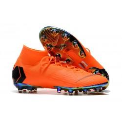 Nike Zapatos Mercurial Superfly 6 Elite AG-Pro Naranja Negro