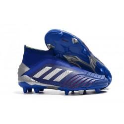 Zapatillas de Fútbol adidas Predator 19+ FG Azul Plata