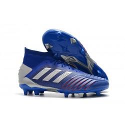 Tacón de Fútbol adidas Predator 19.1 FG - Azul Plata
