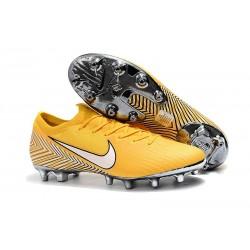 Bota de fútbol Nike Mercurial Vapor XII Elite AG-Pro Neymar Amarillo Blanco