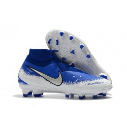 Nike Tacos de Futbol Phantom VSN Elite DF FG - Azul Blanco