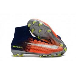 Nike Zapatillas Mercurial Superfly V FG para Hombre -Azul Cromo Carmesi