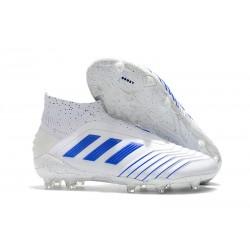 Zapatillas de Fútbol adidas Predator 19+ FG Virtuso Blanco Azul