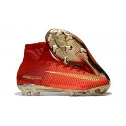 Nike Zapatillas Mercurial Superfly V FG para Hombre -Rojo Oro