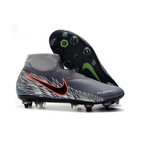 Nike Phantom Vision Elite DF ACC Anti-Clog SG-Pro Gris Argent