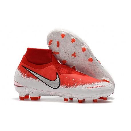 Nike Tacos de Futbol Phantom VSN Elite DF FG - Rojo Blanco Plata