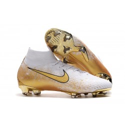 Nike Mercurial Superfly 6 Elite Dynamic Fit FG Botas Blanco Oro