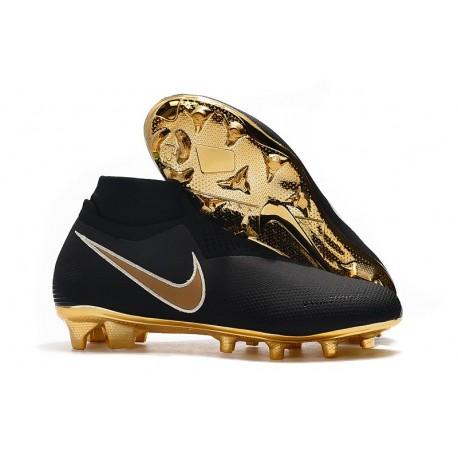 Nike Phantom Vision Elite FG Bota de Fútbol Negro Oro