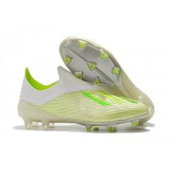 Botas de Fútbol X 18+ de adidas - Blanco Verde