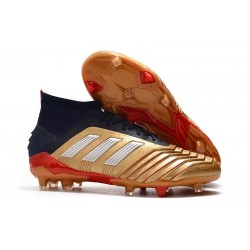 Tacón de Fútbol adidas Predator 19.1 FG - Oro Rojo Plata