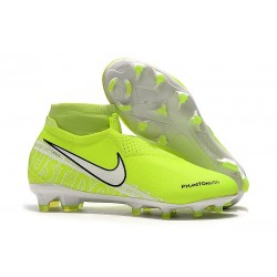 Nike Phantom Vision Elite FG Bota Amarillo Fluorescente Blanco