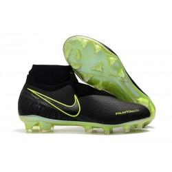 Nike Phantom Vision Elite FG Bota de Fútbol Negro Amarillo Fluorescente