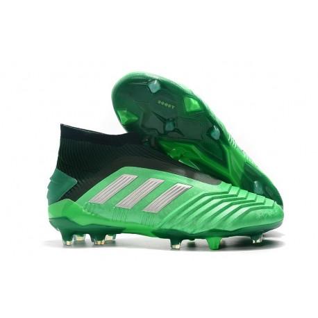 Zapatillas de Fútbol adidas Predator 19+ FG Verde Negro Argento