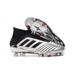 Zapatillas de Fútbol adidas Predator 19+ FG Plata Negro