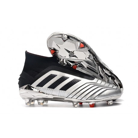 Zapatillas de Fútbol adidas Predator 19+ FG Argento Negro
