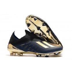 Botas de Fútbol adidas X 19 + FG Negro Azul Oro