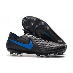 Zapatos de Fútbol Nike Tiempo Legend VIII Elite FG Negro Azul