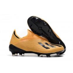 Botas de Fútbol adidas X 19 + FG Naranja Negro
