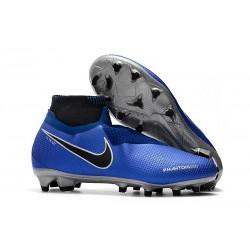 Nike Phantom Vision Elite DF FG Tacos de Futbol - Azul Negro