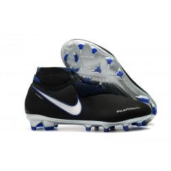 Nike Phantom Vision Elite DF FG Tacos de Futbol - Negro Azul