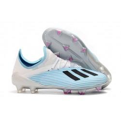 Zapatos de Futbol adidas X 19.1 FG Azul Blanco Negro