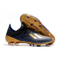 Zapatos de Futbol adidas X 19.1 FG Negro Oro Azul