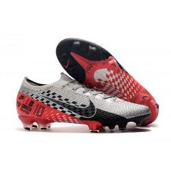 Zapatillas Nike Mercurial Vapor XIII Elite FG - Neymar Platino Negro Rojo