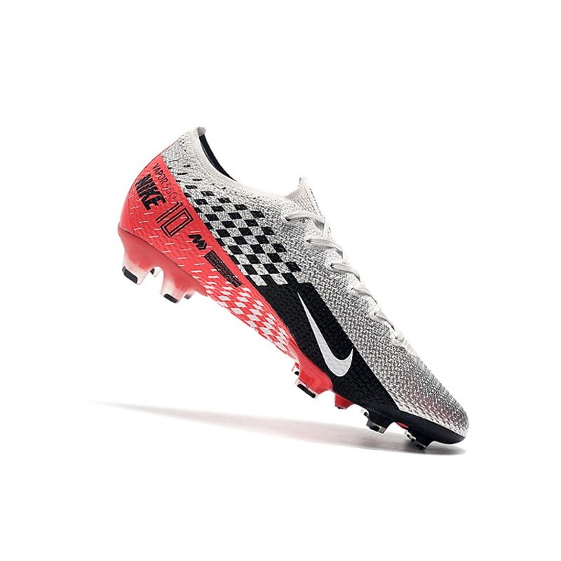 Zapatillas Nike Mercurial Vapor XIII Elite FG Neymar Platino Negro Rojo