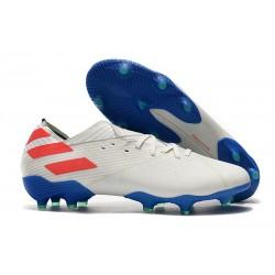 Bota de fútbol adidas Nemeziz 19.1 FG - Blanco Azul Rojo