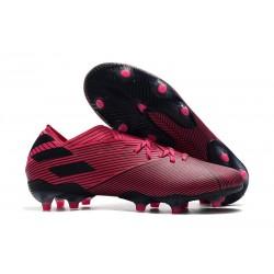 Bota de fútbol adidas Nemeziz 19.1 FG - Rosa Negro