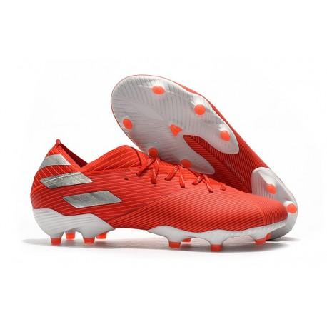 Bota de fútbol adidas Nemeziz 19.1 FG - Rojo Plata