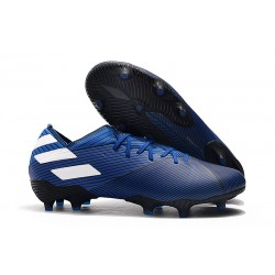 Bota de fútbol adidas Nemeziz 19.1 FG - Azul Blanco