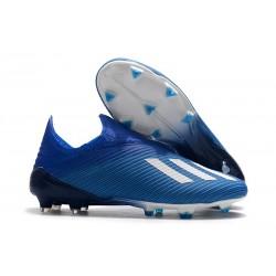 Botas de Fútbol adidas X 19 + FG Azul Blanco