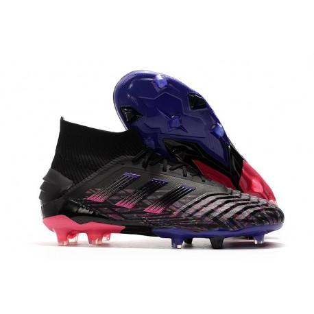 adidas Predator 19+ FG Zapatos de Fútbol - Negro Rosa Azul