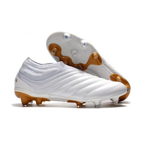 Zapatos de Fútbol adidas Copa 19+ FG - Blanco Oro