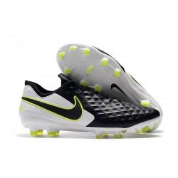 Zapatos de Fútbol Nike Tiempo Legend VIII Elite FG Negro Blanco Voltio