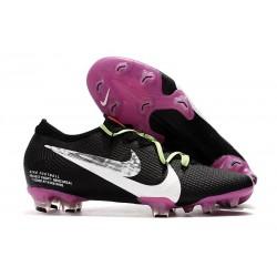 Nike Mercurial Vapor 13 Elite FG Botas de Fútbol Negro Violeta Blanco