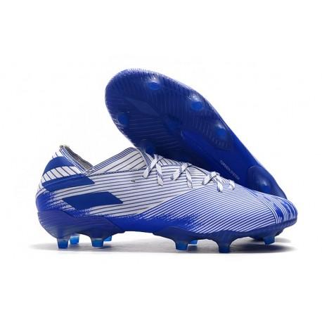 mejores telas el más baratas distribuidor mayorista Bota de fútbol adidas Nemeziz 19.1 FG - Blanco Azul