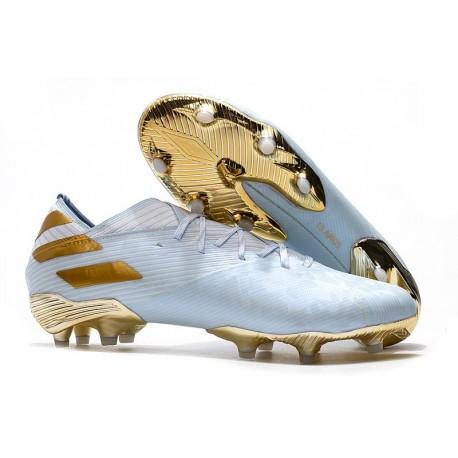 diseño profesional colección de descuento rebajas Bota de fútbol adidas Nemeziz 19.1 FG - Dorado metalizado Blanco