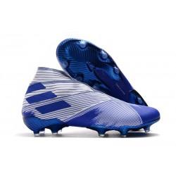 Zapatillas de Fútbol Adidas Nemeziz 19+ FG - Azul Blanco